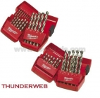 Milwaukee HSS-G sada vrtáků do kovu Thunderweb od 1 - 10 mm po 0,5mm 19ks