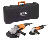 AEG WS 21-230 E + WS 6-125 Sada úhlových brusek