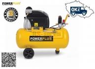 PowerPLUS POWX1760 - Kompresor olejový 1500W 240V  8 bar 222l/min 50L - doprava ZDARMA