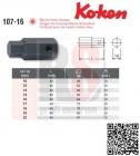 KOKEN 107-16 Kovaný 16mm bit imbus vel. 10 mm