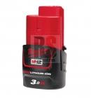 Milwaukee M12 B3 RED LI-Ion Akumulátor 12V 3,0Ah